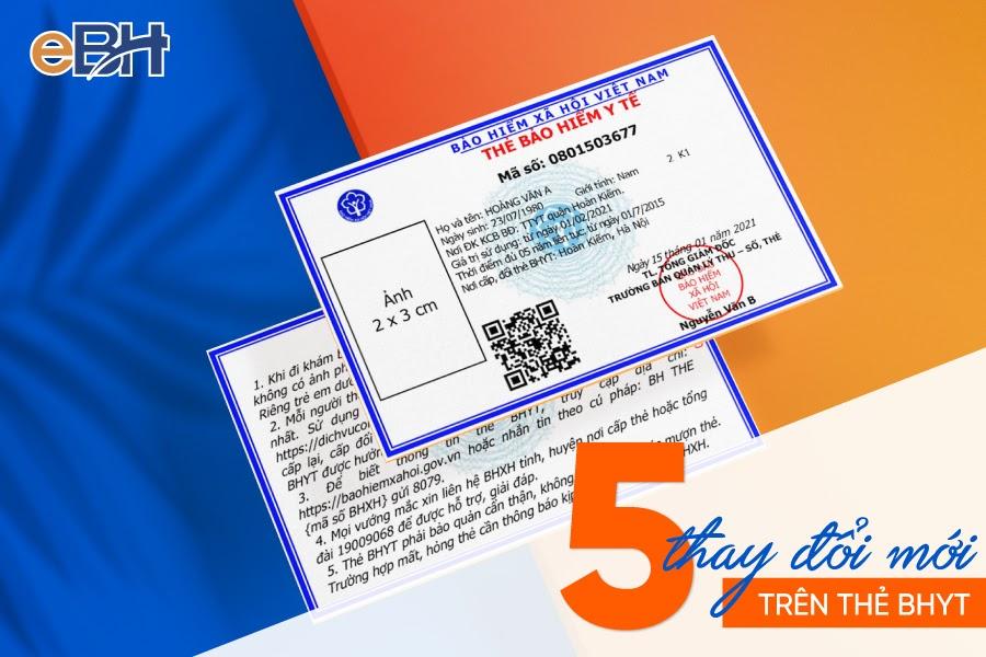 05 thay đổi về nội dung trên thẻ BHYT từ ngày 1/4/2021.