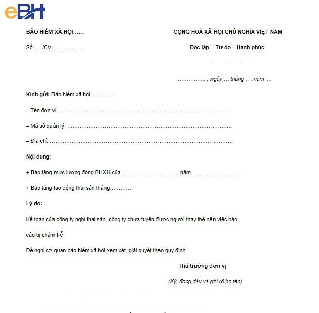 Các mẫu công văn gửi bảo hiểm xã hội doanh nghiệp 4