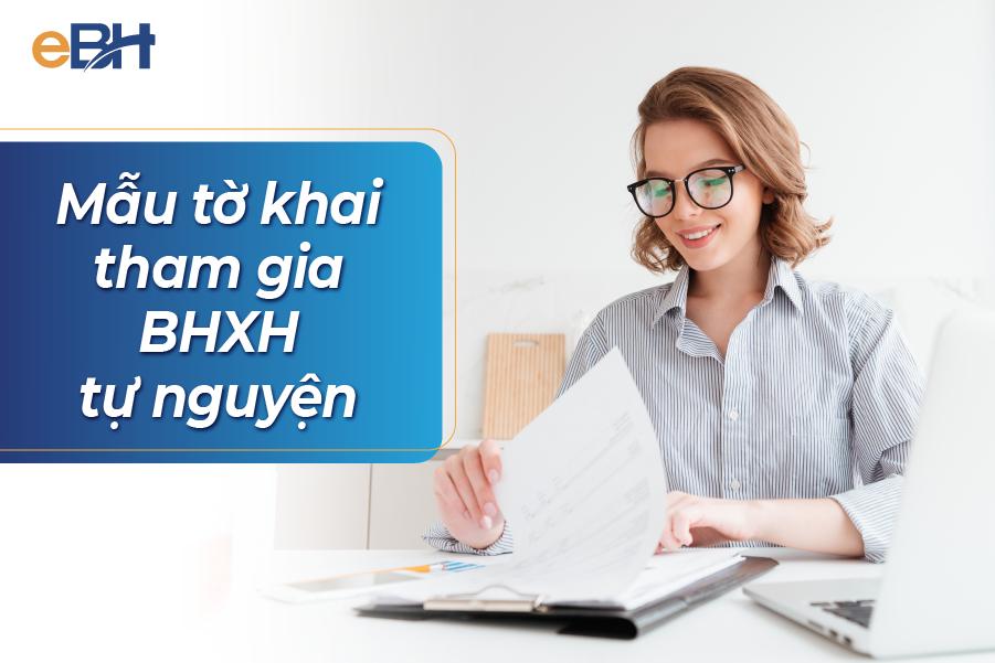 Mẫu tờ khai tham gia BHXH tự nguyện